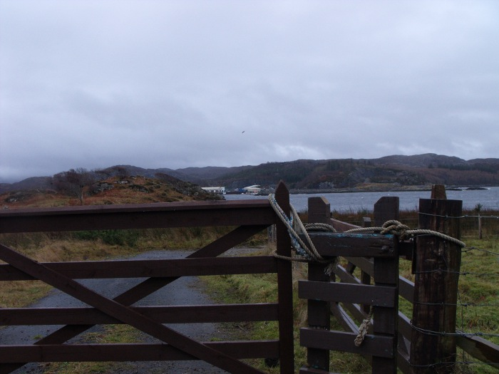 A gate near the water in Glendarrach