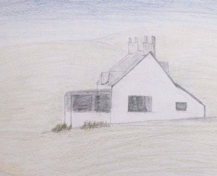 Sketch of a house in Inverkirkaig