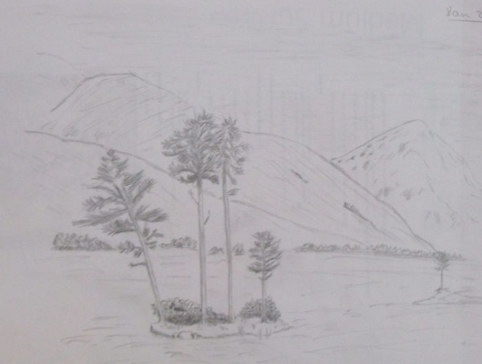 A sketch of a sketch - the islets in Loch Assynt
