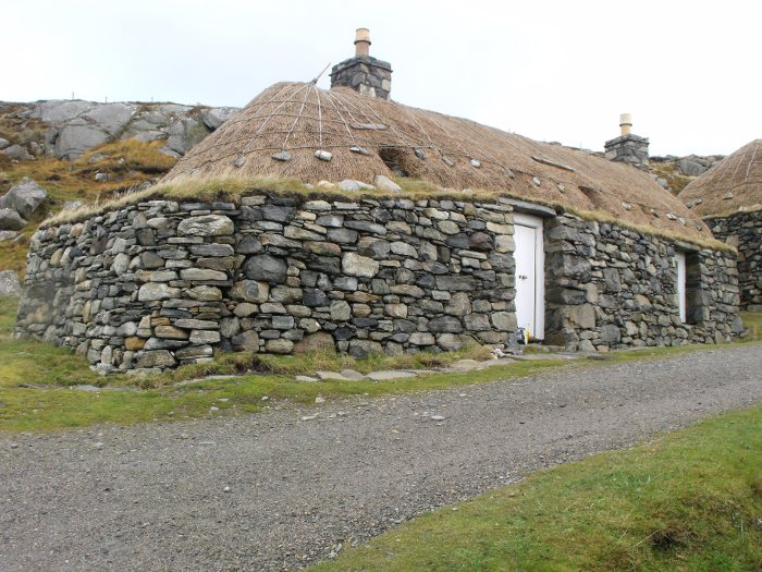 A typical Highland 'blackhouse' in modernised good order