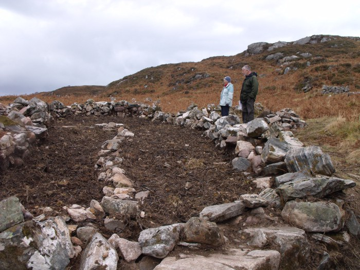 Brenda and Gordon looking over the site of the house at Glenleraig