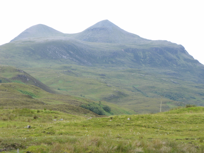 Cùl Mòr seen from Elphin. From here the paps look as they should!