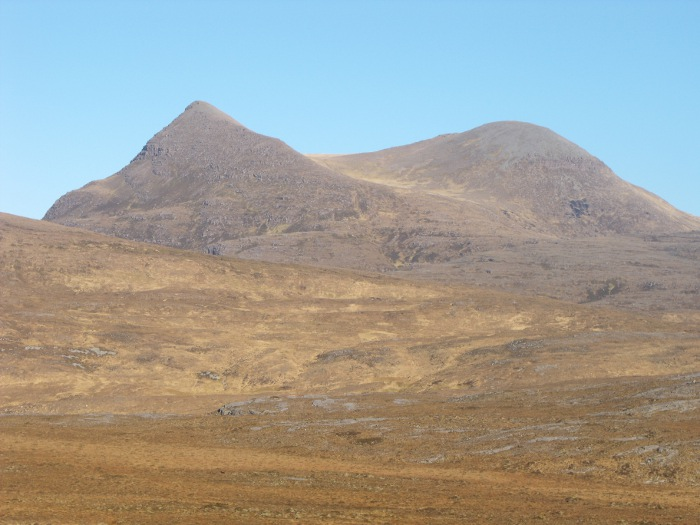 Cùlthain Mòr, normally marked as 'Cùl Mòr' on maps, seen from Knockan Crag