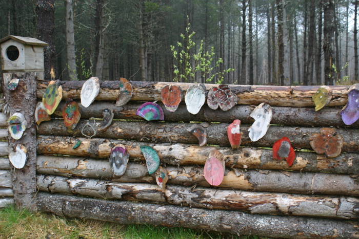 Children are obviously encouraged to add their artworks to decorate the woodland