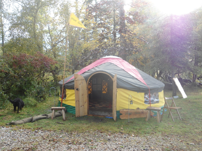 Closer view of the yurt
