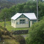I noticed that the tin Tabernacle in Drumbeg has received a smart new coat of paint