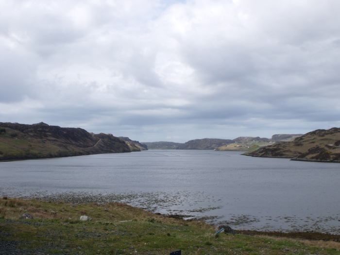 Loch Inchard from Rhiconich which is at its head on the main road