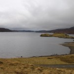 Looking down Loch Assynt on this rather grey day