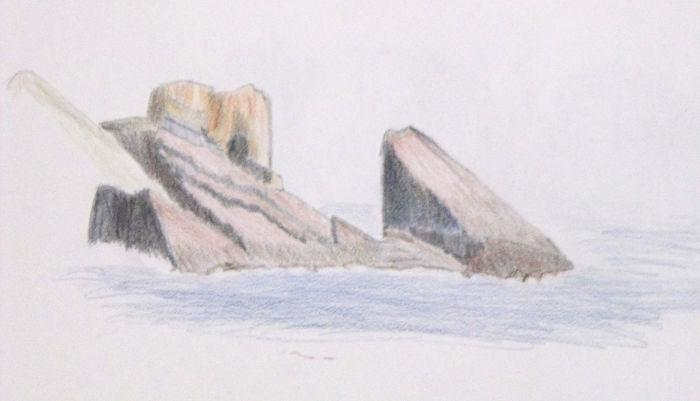 My artistic sketch of the Split Rock