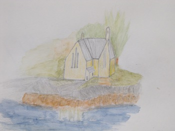 My sketch of the Kirk in Lochinver
