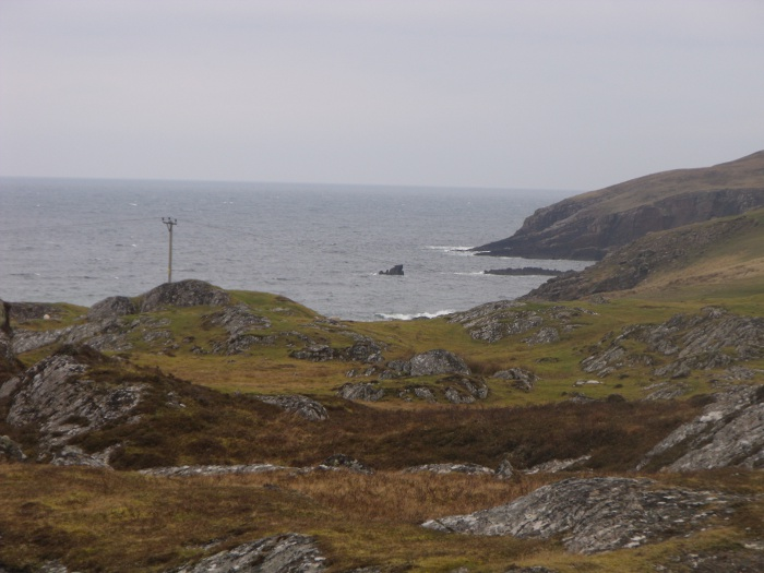 One view from the house - the piece of jagged rock sticking up there is the remains of a sea stack, hence the name of the house