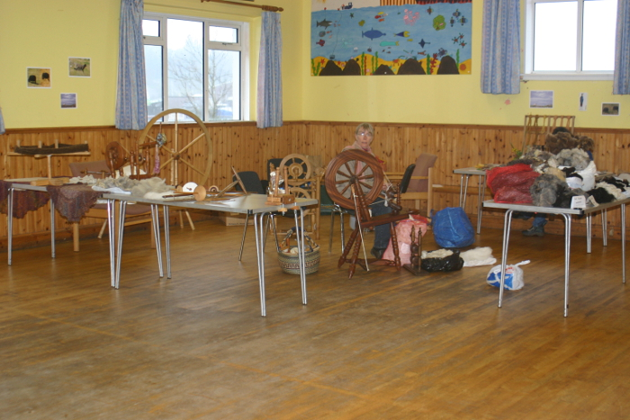 Our woolly corner of the Village Hall