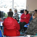 Part of the group of people with special needs and their carers at the latest photography course