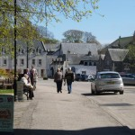 People enjoying the day in the centre of Dornoch