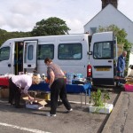 Setting up for the last bus boot sale of the season