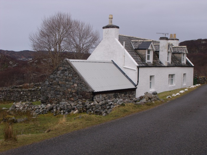 Strathcraig - you see the old house is incorporated into the new