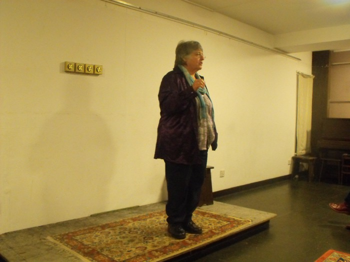 Susan making the introductions