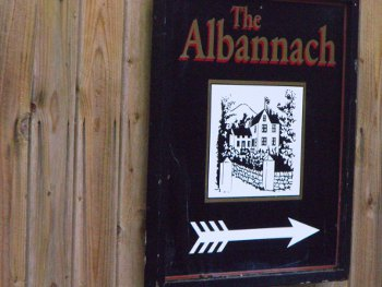 The Albanach sign