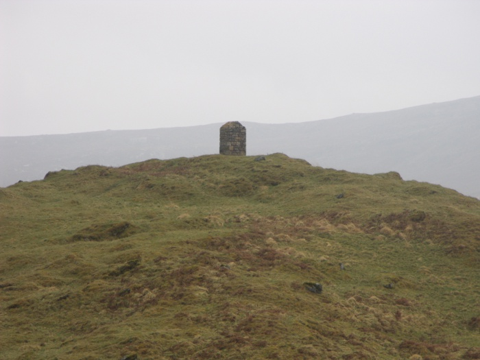 The memorial cairn to Peach and Horne at Inchnadamph