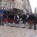 The drummers of the pipe band