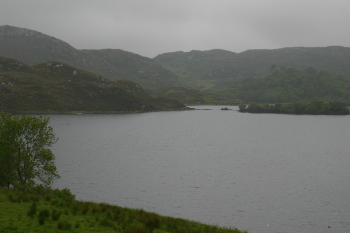 The eponymous loch at Drumbeg on a misty sort of day
