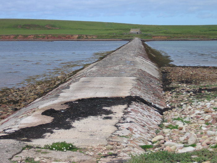 The first of the 'Churchill' causeways to have been built. This one is just for feet