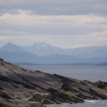 The hills of Coigach in the background taken from Balchladich beach