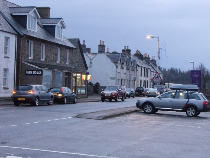 The main street of Lochinver - 'capital' of Assynt and the hub of our community