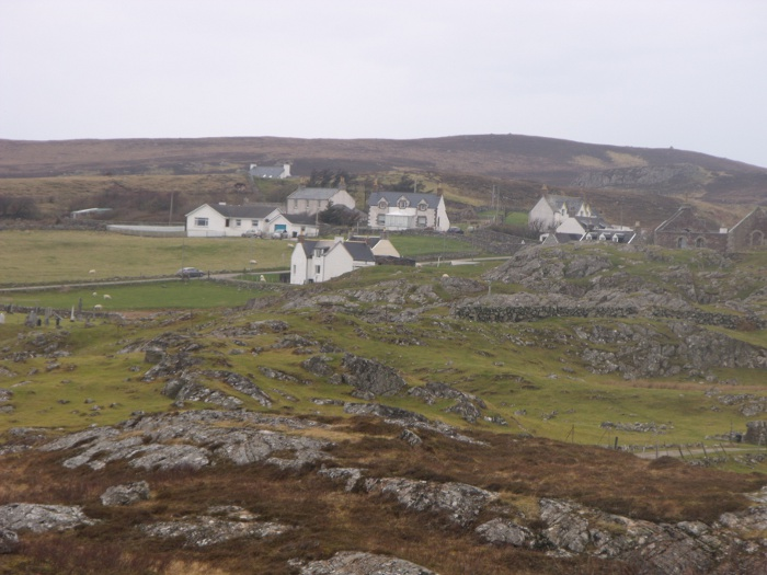 The old Stoer church, with some of the houses which form the township