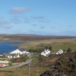 The two schools overlooking Loch na Bà Buidhe - or Loch of the Yellow Cow