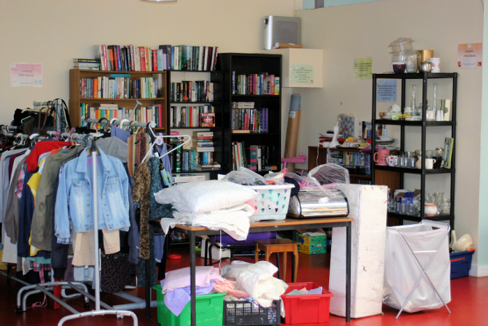 The very popular second-hand shop tucked in its cosy corner