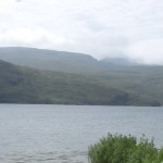 The view across the loch from the bench