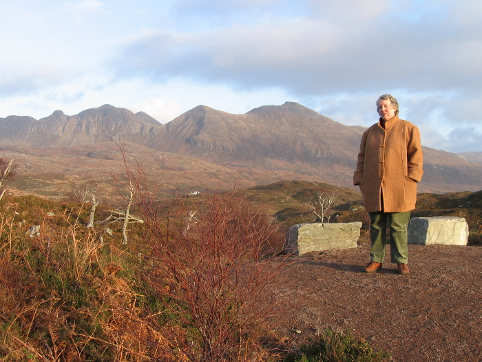 This is me in 2006 wearing the Harris tweed coat my sister made for me.