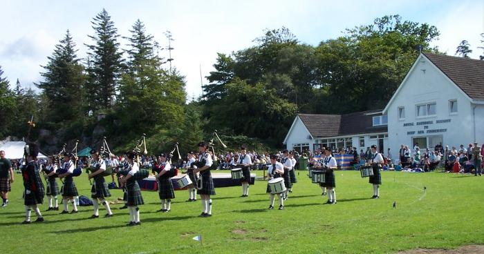 Ullapool school pipe band taken at our Games Day in 2002